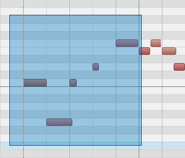 2.在鋼琴捲簾視窗中修正不準的音符